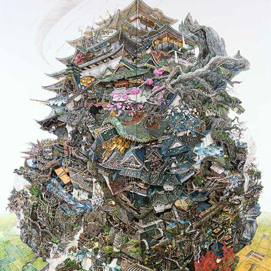 Dessins à la plume et à l'encre de Manabu Ikeda - http://www.2tout2rien.fr/dessins-a-la-plume-et-a-l-encre-de-manabu-ikeda/