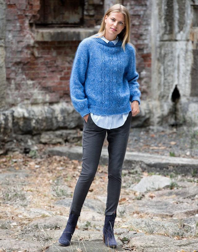Strikkeopskrift: Bluse strikket oppefra og ned - ALT.dk #strikkeopskriftsweater