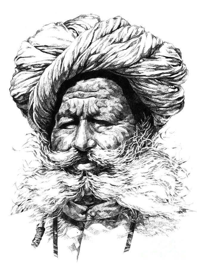 Rajasthani man painting by rohan pore