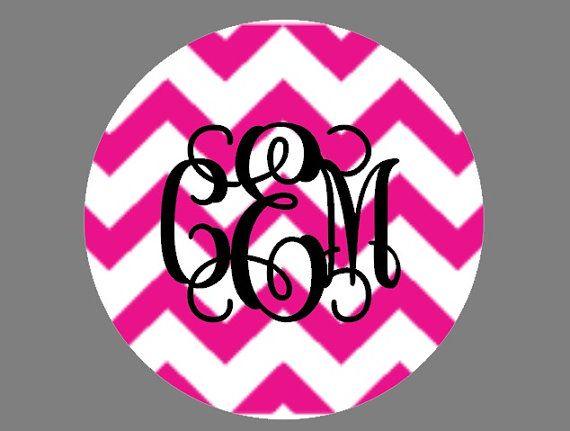 chevron monogram car decal custom vinyl decal chevron vinyl letters vines monogram via