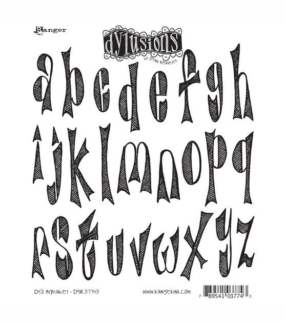 Dyan ReaveleyS Dylusions Cling Stamp Collection  DyS Alphabet