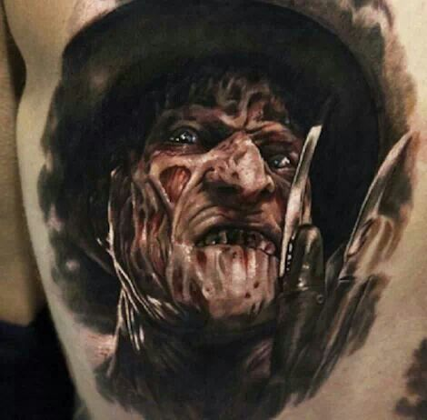 freddy krueger tattoo is awesome realistic awesome tattoos pinterest freddy krueger. Black Bedroom Furniture Sets. Home Design Ideas