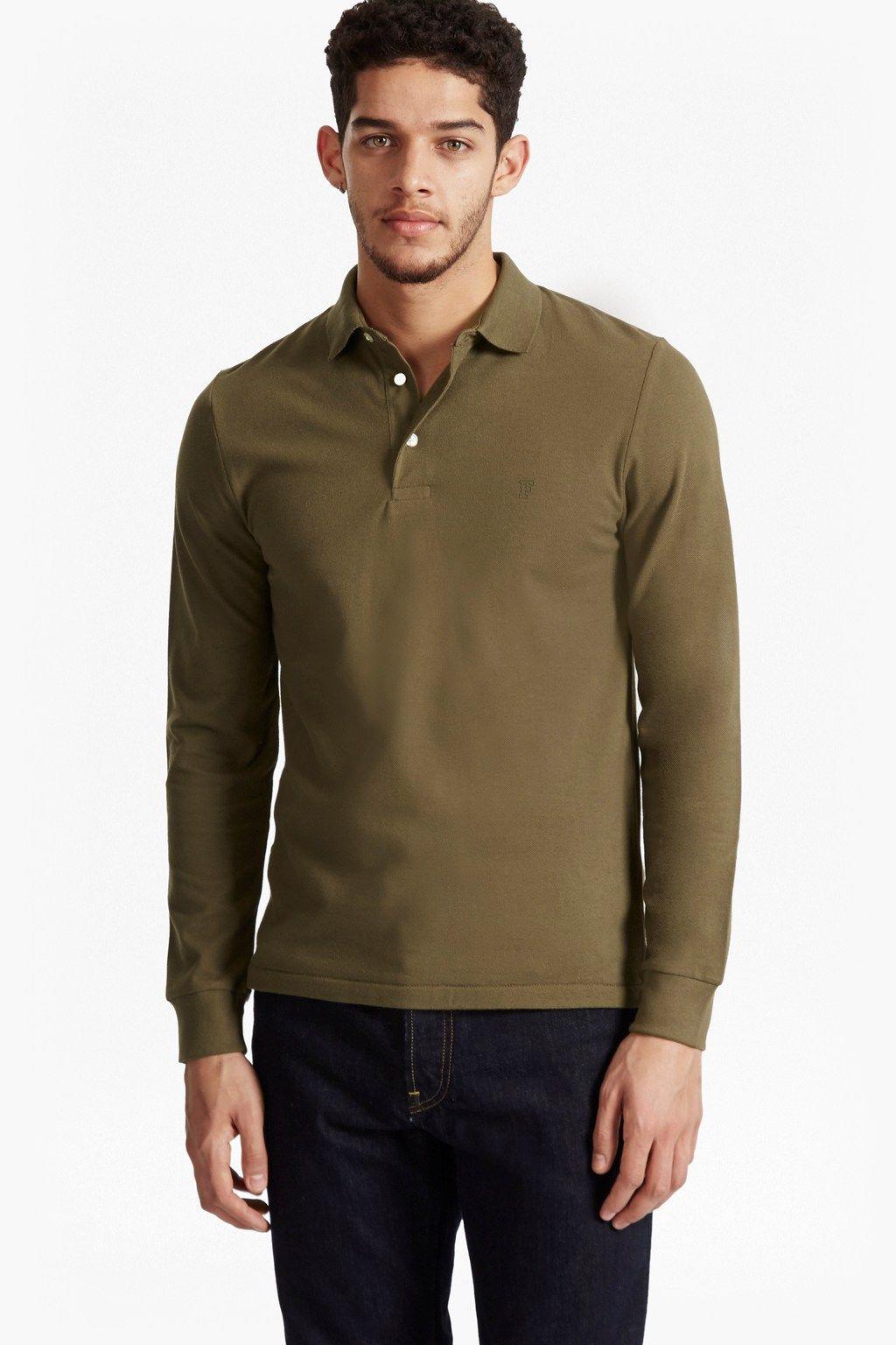 Brunswick long sleeves polo shirt mens sale french
