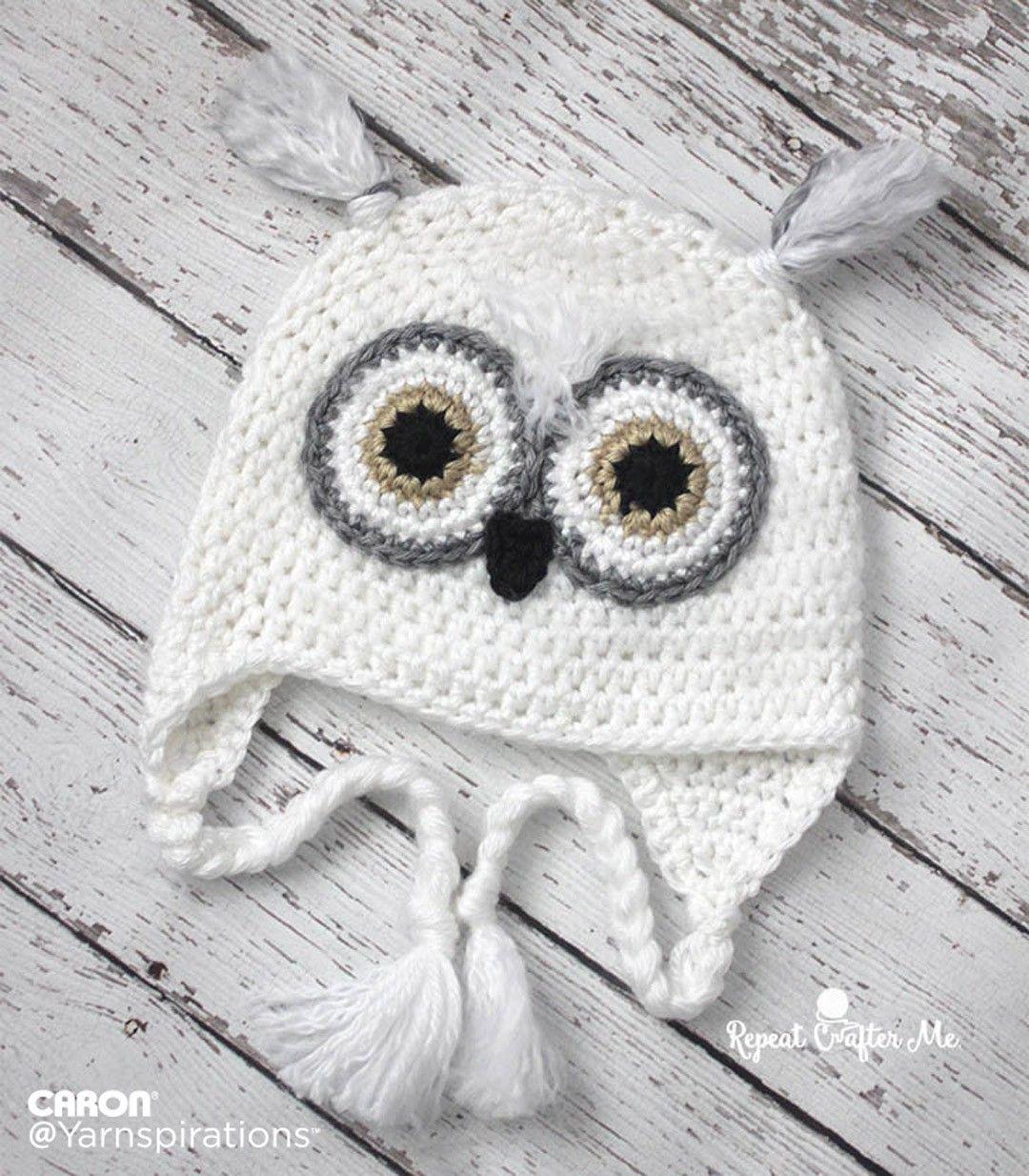 Snowy Owl Crochet Hat | Crochet | Pinterest | Gorros, Tareas y Ganchillo
