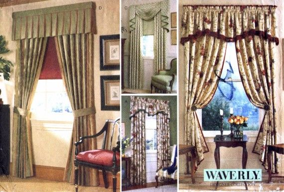 Drapes Valance Curtains Waverly Vogue 2266 Sewing Pattern