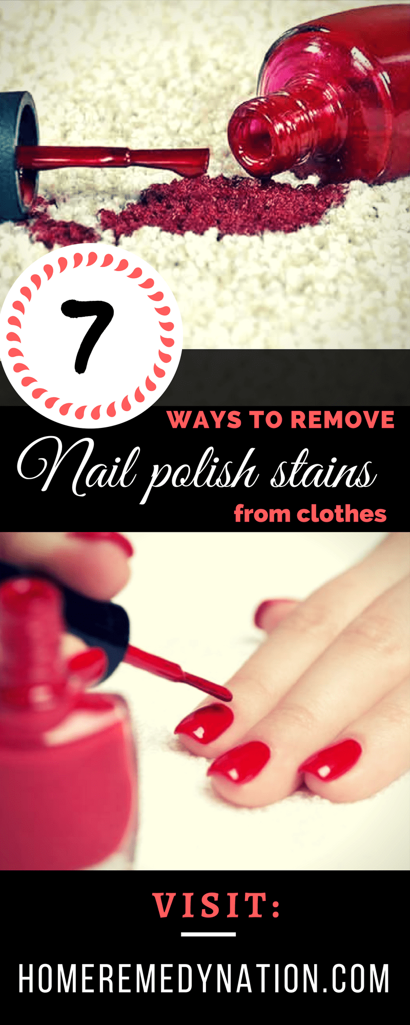 7 Substantial Ways To Easily Remove Nail Polish Stains From Clothes Home Remedy Nation Nail Polish Stain Nail Polish Remover Old Nail Polish