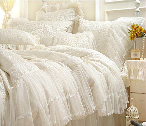 Shabby Chic Bedding Ideas Shabby Chic Bedding White Bed Set