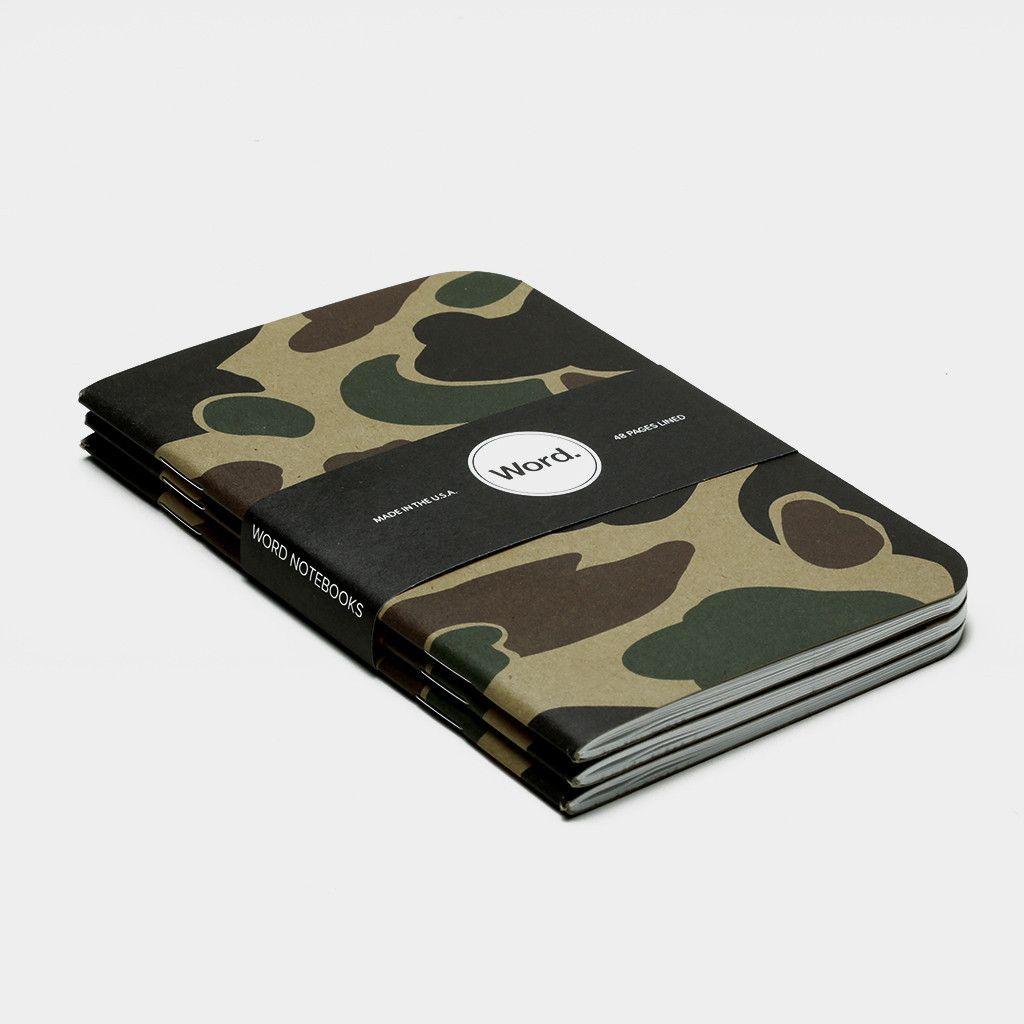 Tan Camo (3pk) Word. Notebook $9.99