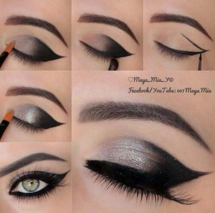 60s Smoked Out Cat Eye With Images Smoky Eye Makeup Smoky Eye