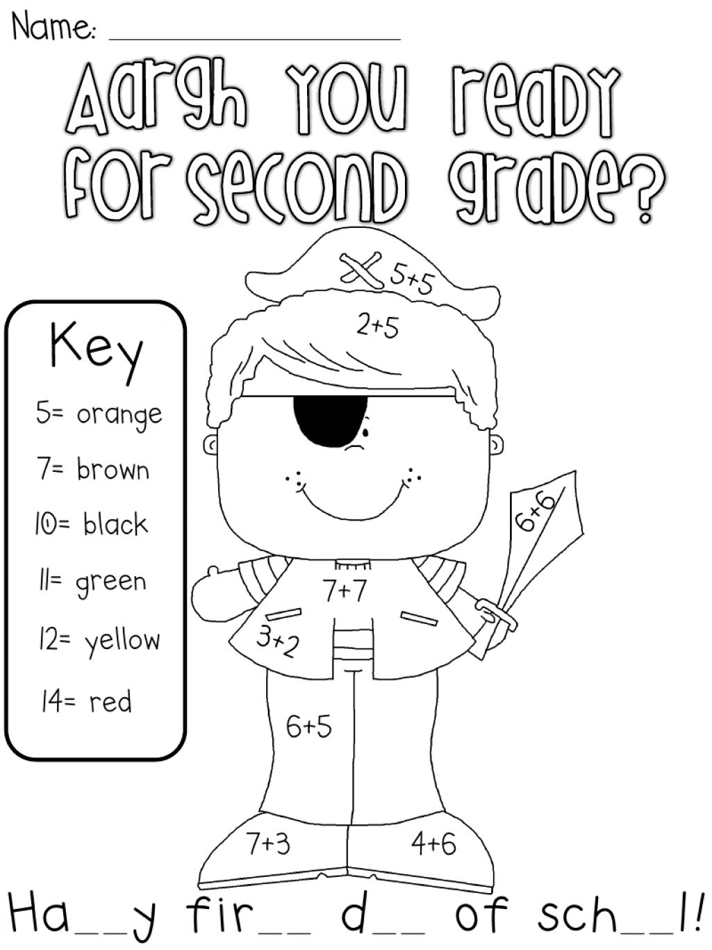 first day coloring pages for second grade | First Day Of School First Day Of School Activities For 2nd ...