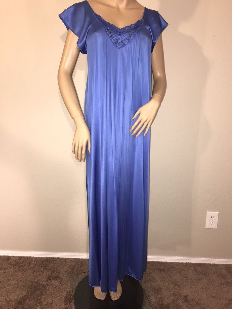 vtg vanity fair nylon long nightgown medium made in usa ebay