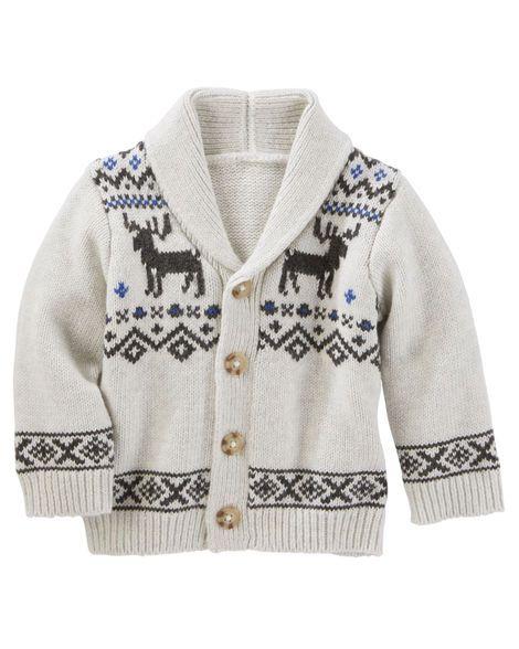 Fair Isle Shawl Collar Cardigan | Babies clothes and Babies