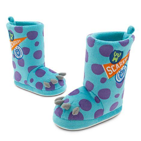Disney Store - Sulley Slippers for Kids - Monsters University $10