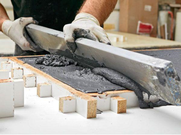 Build This Beautiful Concrete Bench Concrete Bench Concrete Furniture Concrete Projects