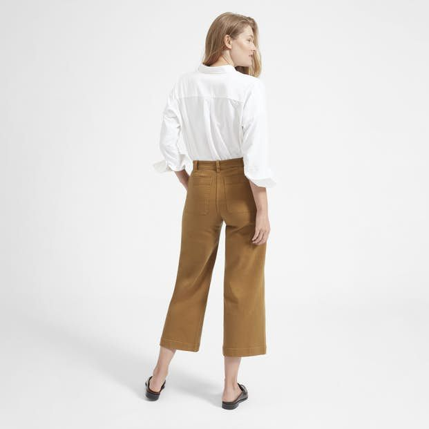d1b6085375c Our most flattering pant—ever. An of-the-moment fit with a classic  high-rise and flattering cropped hem. Bonus  they re garment dyed for an  extra soft