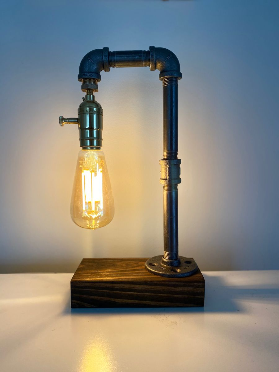Rustic Industrial Steampunk Edison Lamp In 2020 Diy Projects Lamps Rustic Lamps Lamp