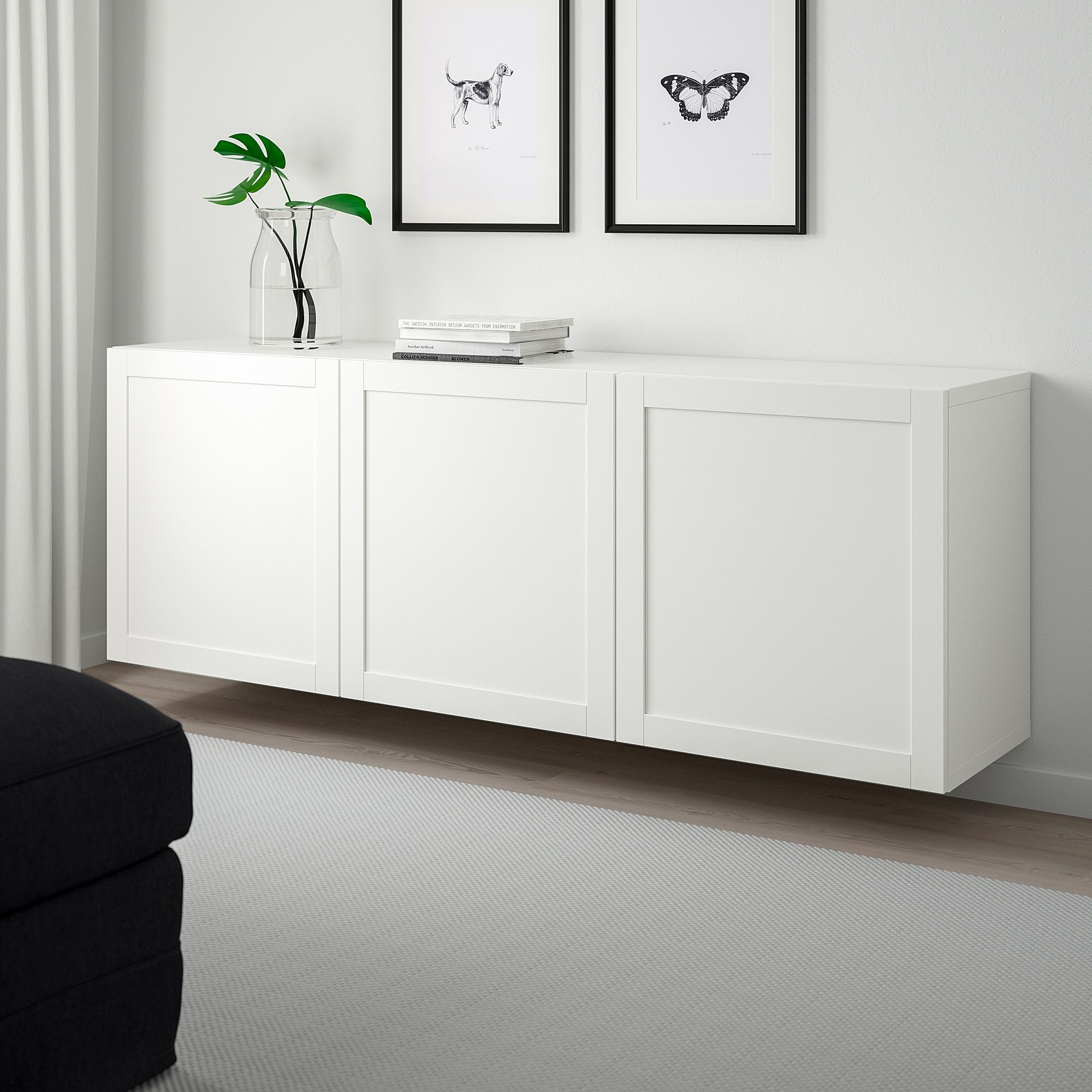 BESTÅ Wall-mounted Cabinet Combination White