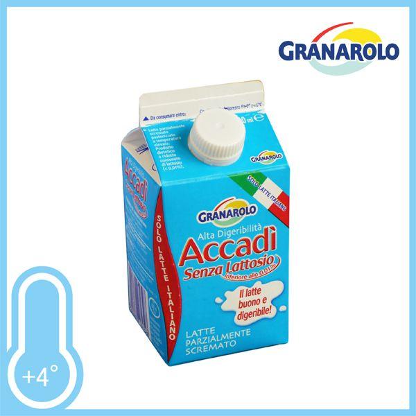 Gustoso latte parzialmente scremato senza lattosio. Il buon latte digeribile! Brick ml.500 a solo € 0,39!!!