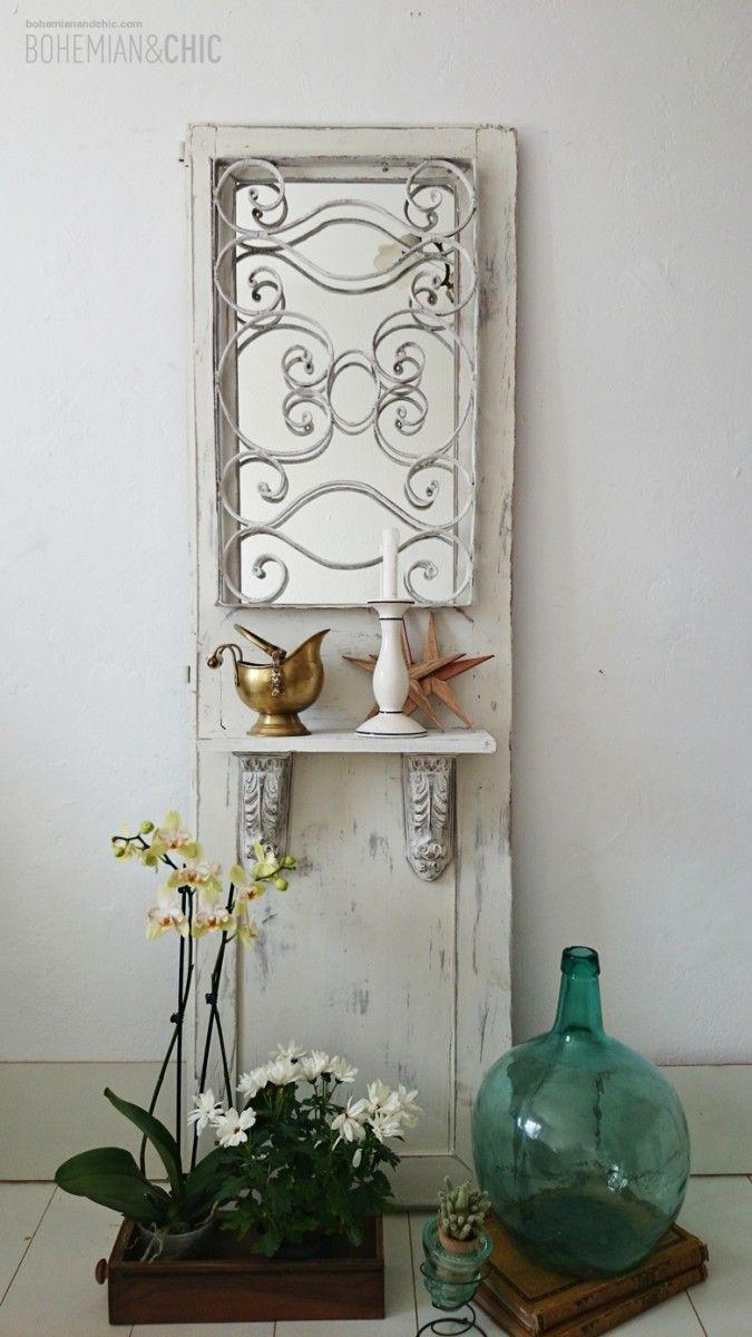 C Mo Transformar Una Puerta Antigua En Un Mueble De Entrada  # Muebles Personalizados