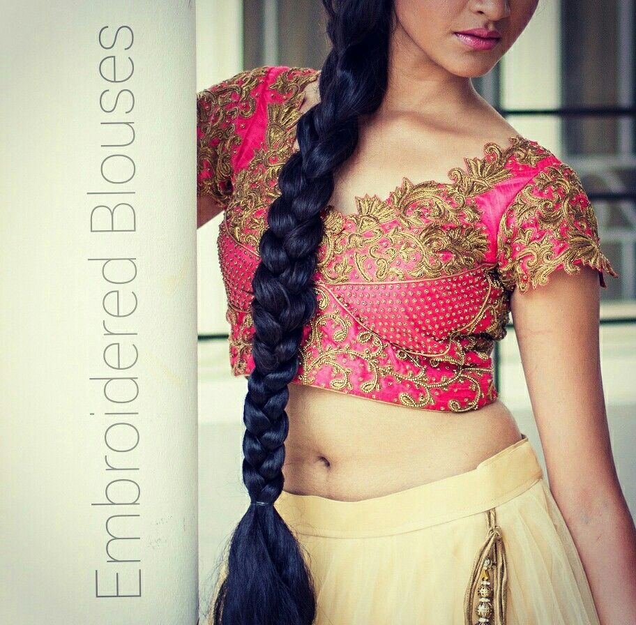 Embroidered Blouses by Varuna Jithesh.   Visit us at www.varunajithesh.com