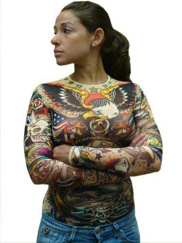 Amazon Com Women S Full Body Traditional Sailor Tattoo