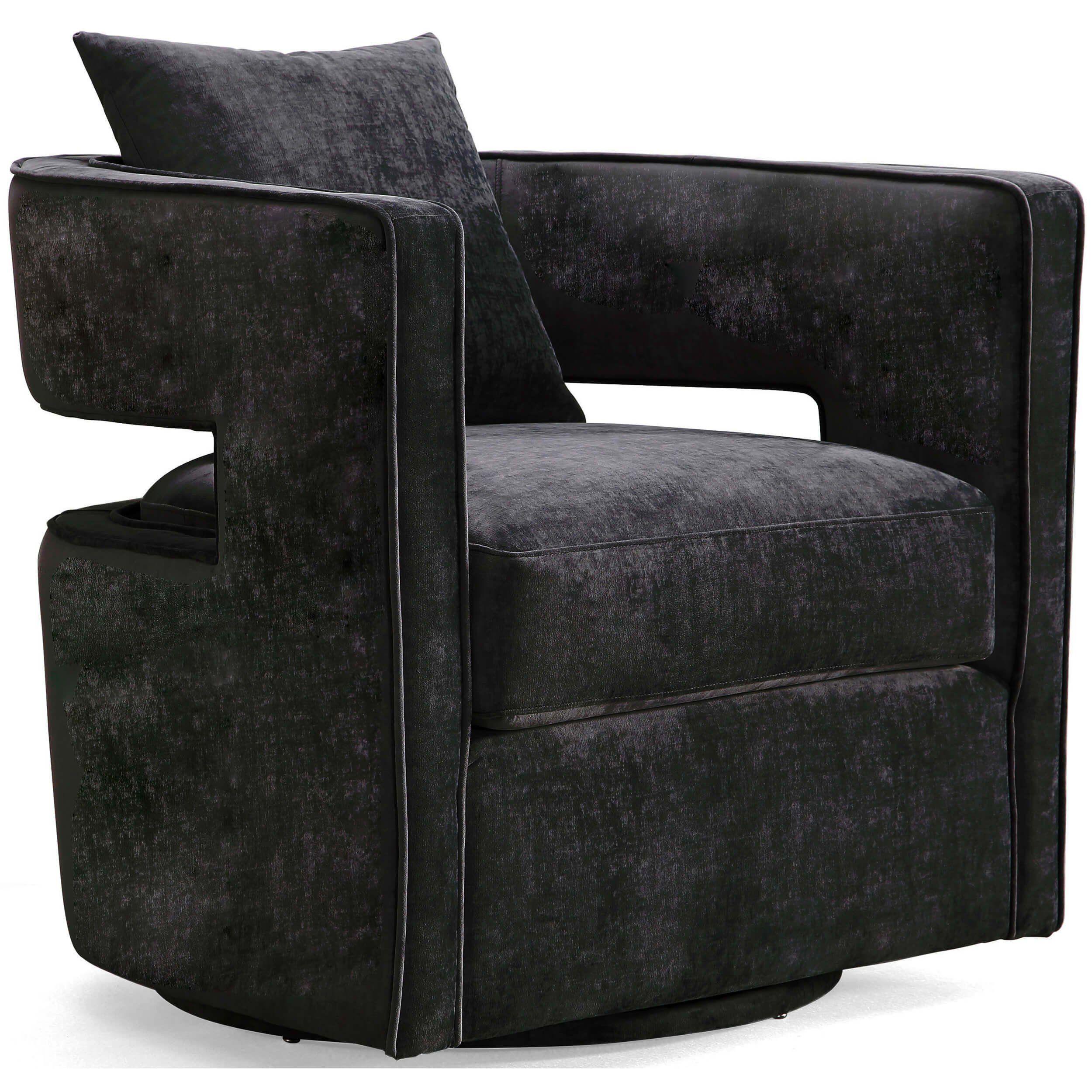 Swivel Chair, Black in 2020 Swivel chair, Modern
