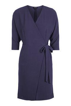 641b0337 PETITE Batwing Wrap Midi Dress | Glo Up and Blow Away | Wrap Dress ...