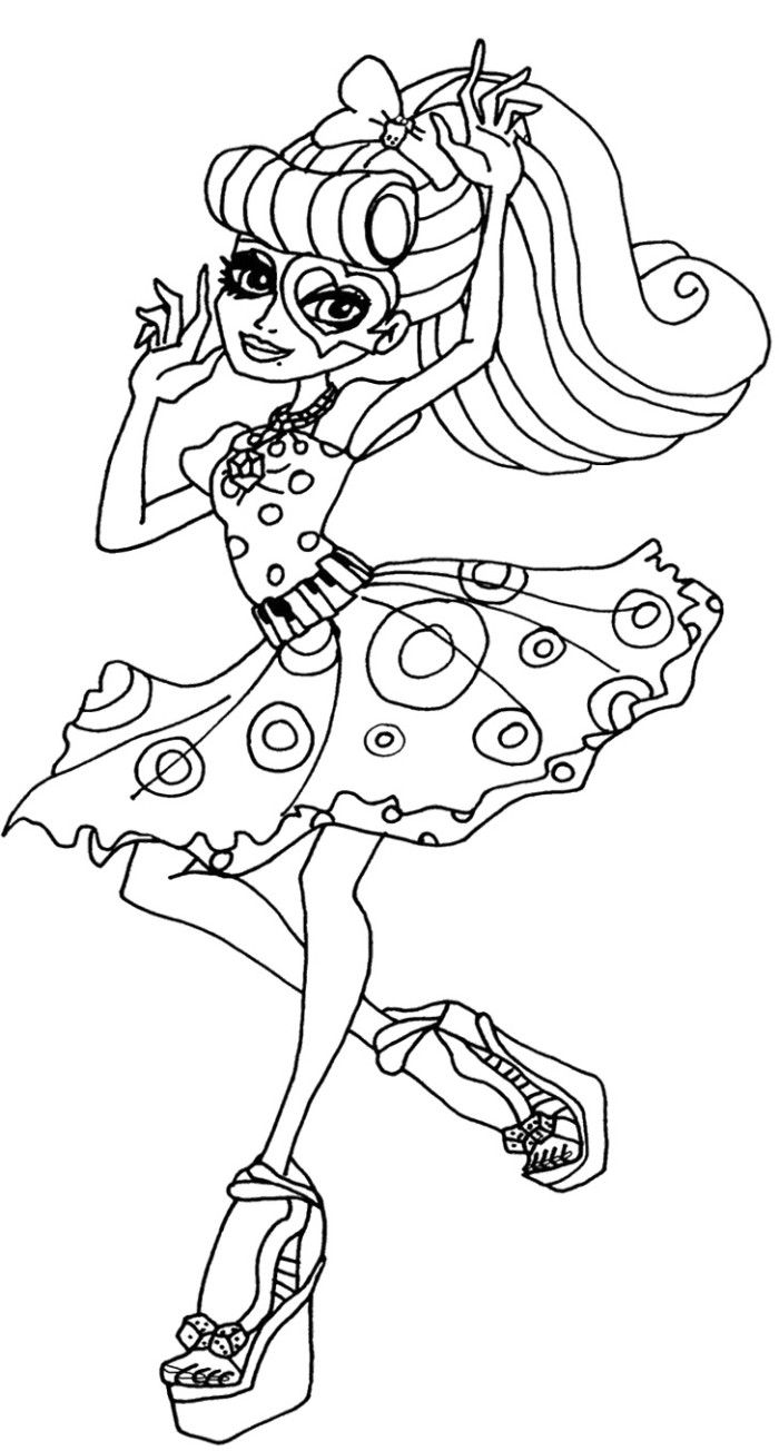 monster high cupid free coloring pages