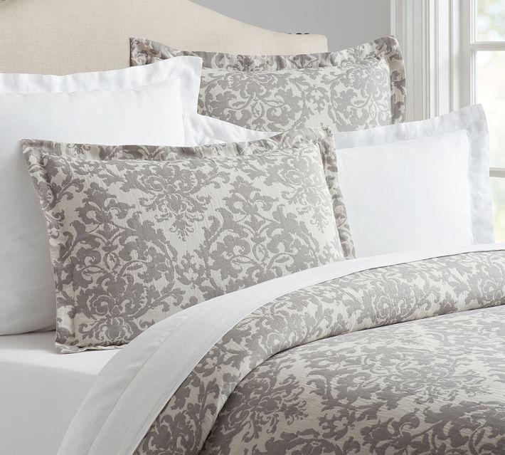 Jacquard Medallion Cotton Blend Duvet Cover Amp Shams Neutral Medallion Duvet Bed Linens Luxury Duvet Covers