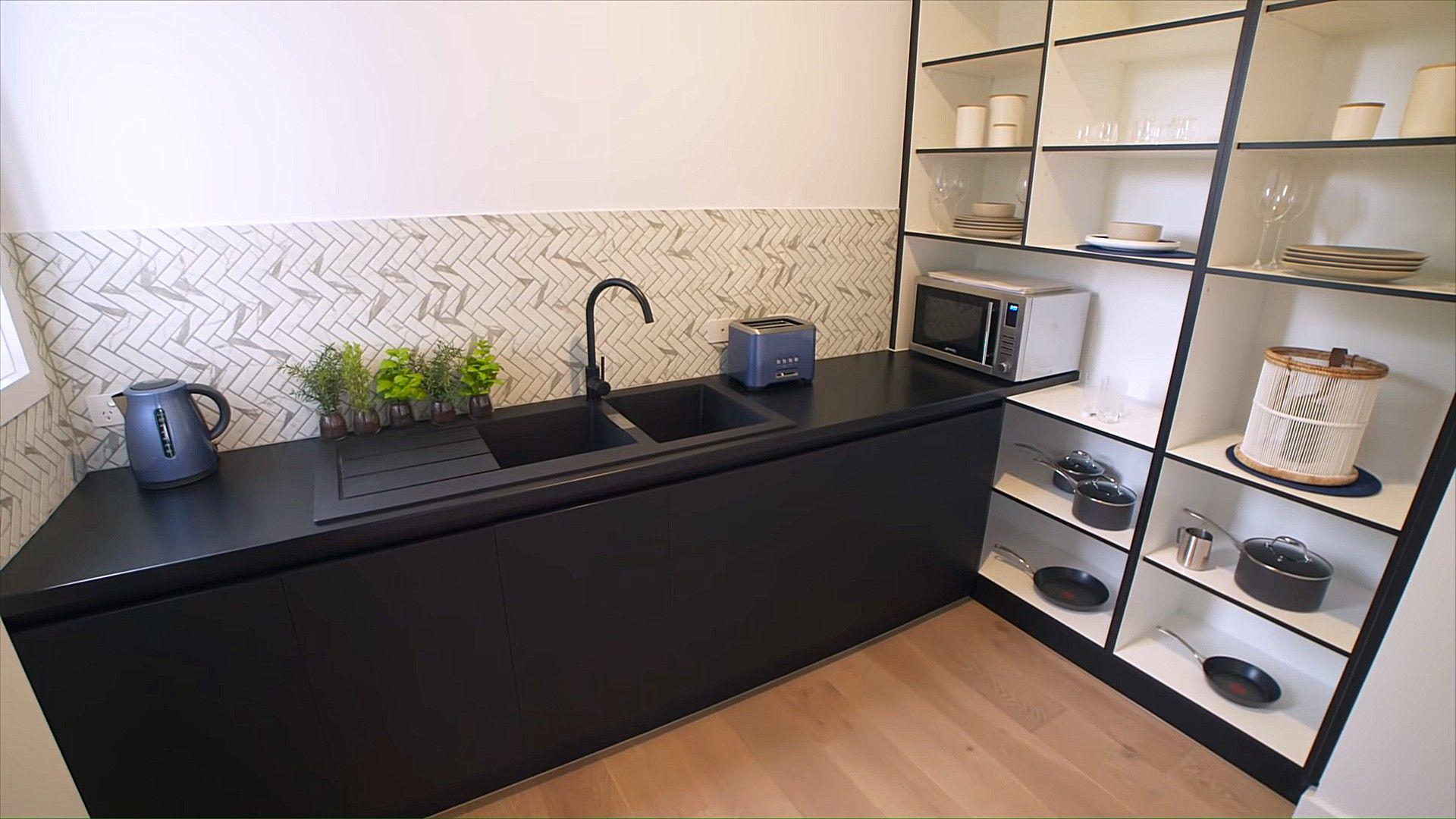 Schwarze Farbe Geschirrspüler Eitelkeit Und Spüle Home