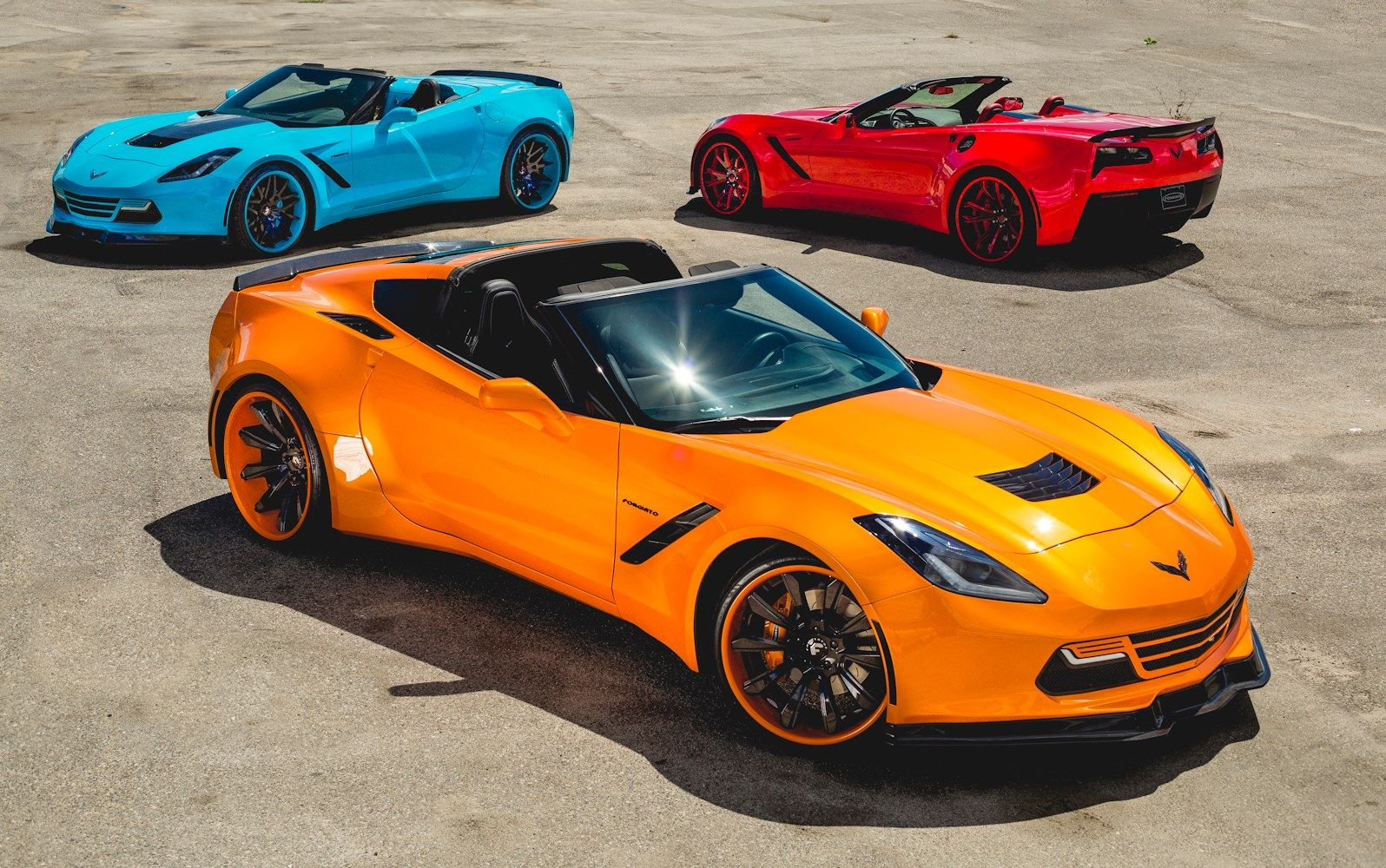 Three Bright Widebody C7 Corvettes Are Out Of This World ...