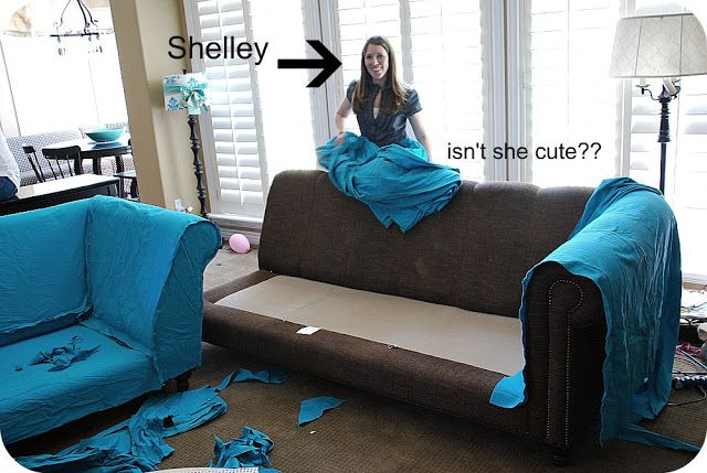 Marvelous My Slipcovered Sectional And A Giveaway Sectional Caraccident5 Cool Chair Designs And Ideas Caraccident5Info