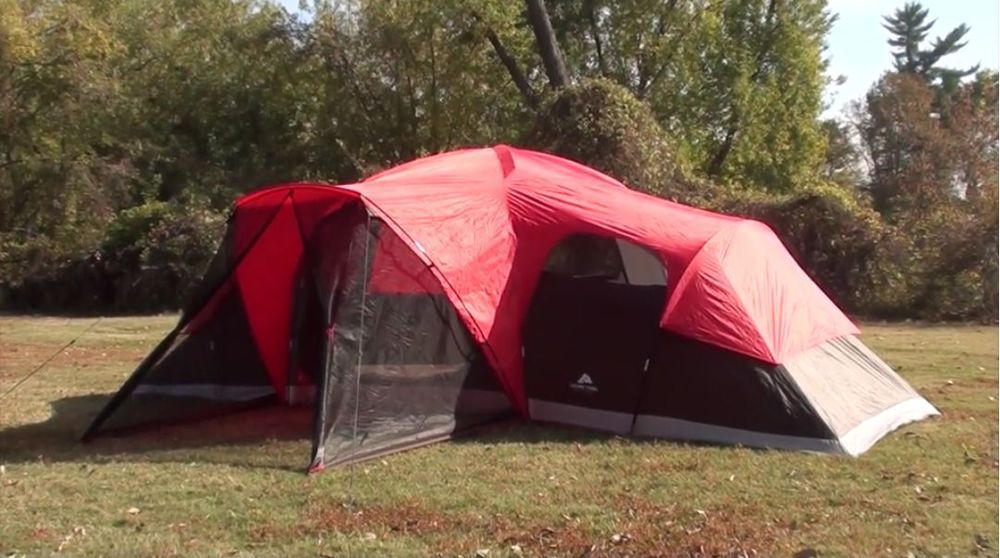 Ozark Trail 20 X 10 Family Tent Sleeps 10 Camping Fits 3