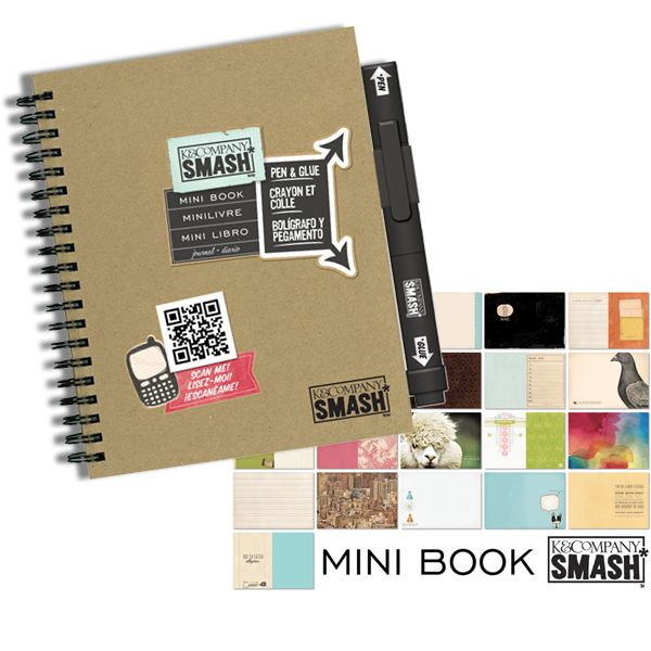 K and Company - SMASH Collection - Journal Book - Mini Folio at Scrapbook.com $7.99
