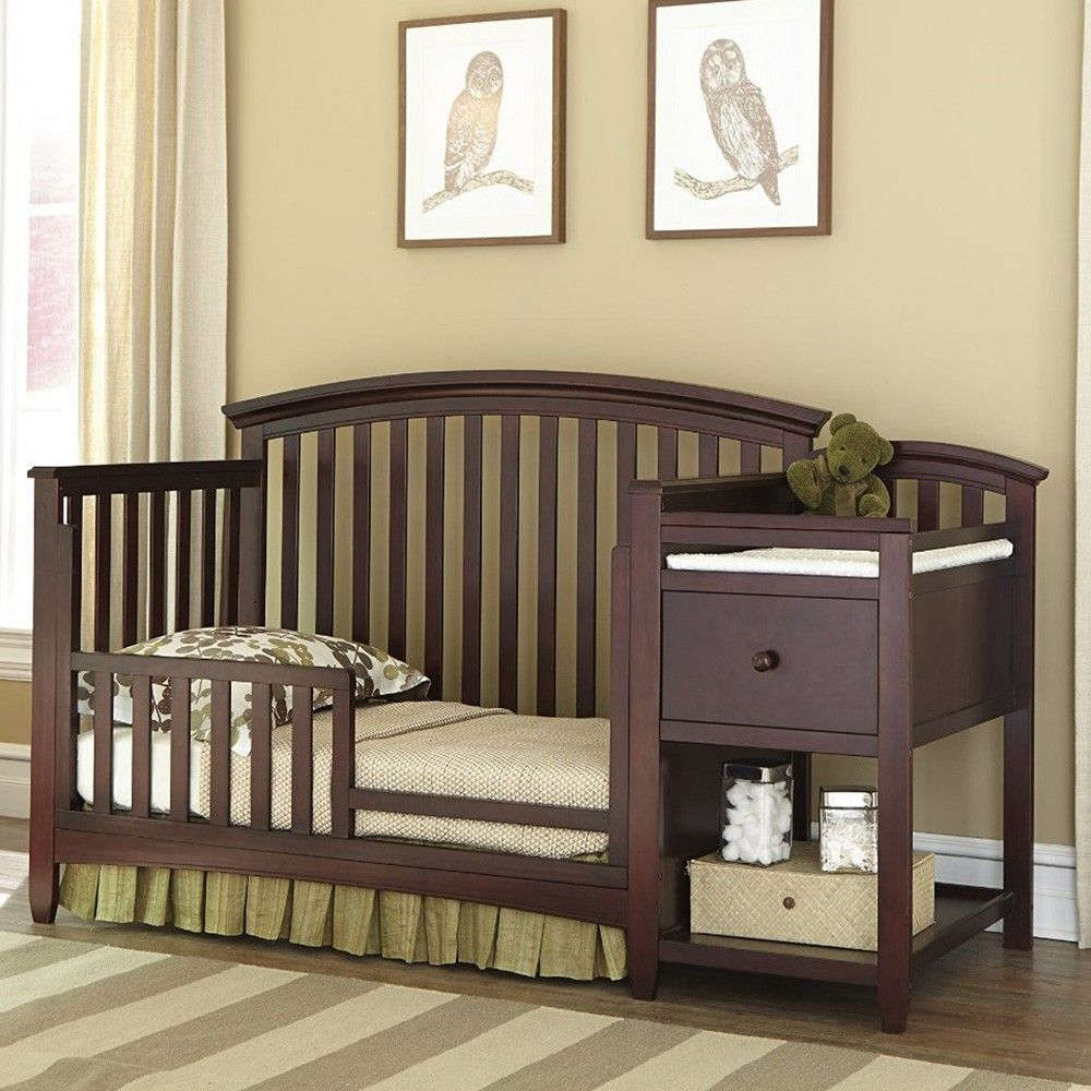 Imagio Baby Montville Crib And Changer With Pad Crib And Changing Table Combo Crib With Changing Table Cheap Baby Cribs