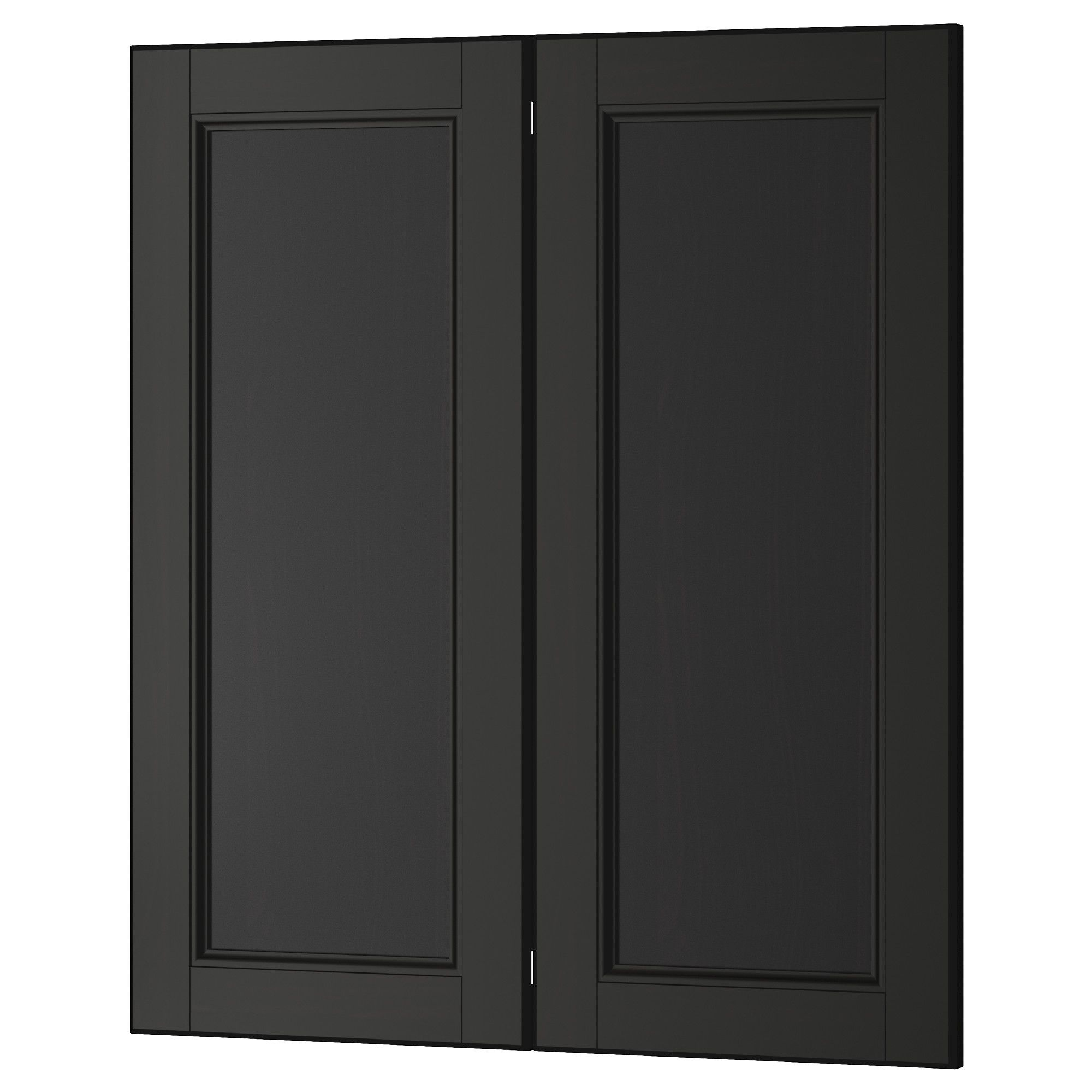 Kitchen cabinet tremendous corner base sink cabinet with half moon - Laxarby 2 P Door Corner Base Cabinet Set Black Brown