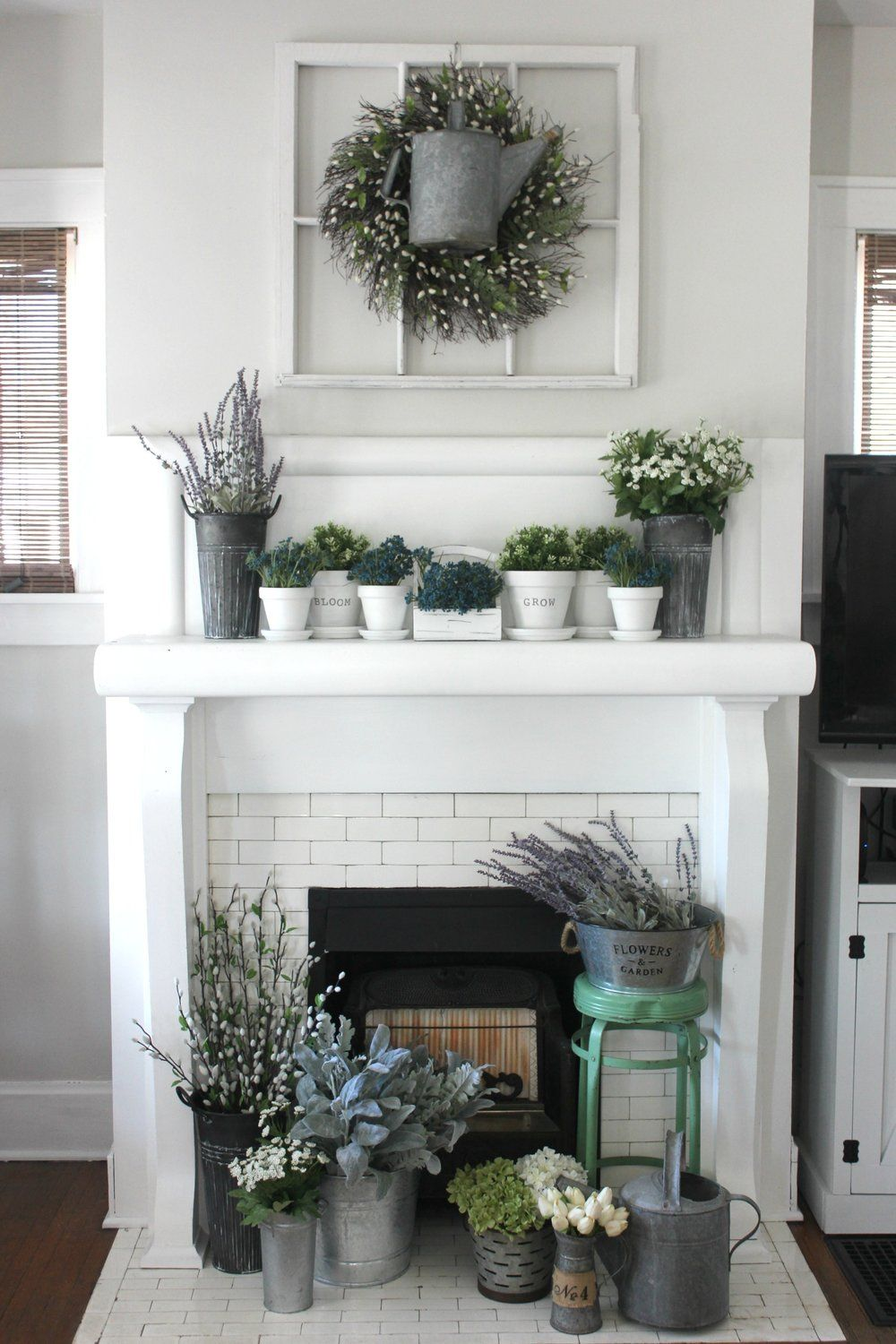 How to Create a Flower Market Inspired Mantel-Pennies from Heaven ...