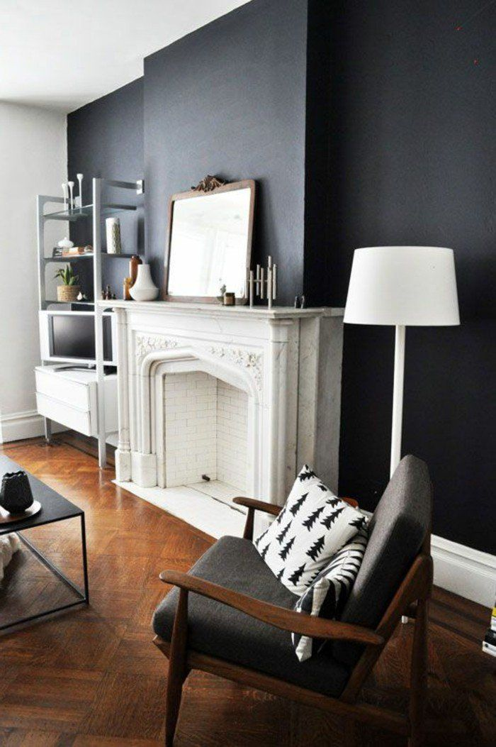 Le gris anthracite en 45 photos d\'intérieur! | decor idea | Salon ...