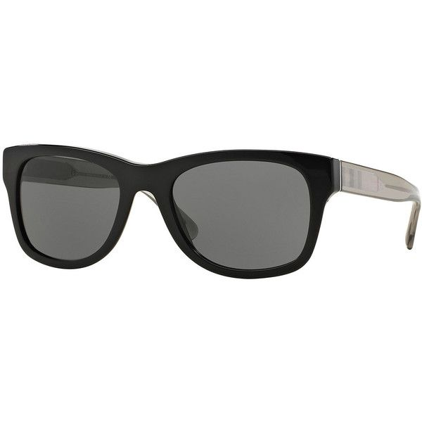 ceb491c0522 Burberry Square Sunglasses with Check Detail (1