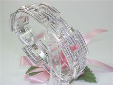 Bracelet set with diamond - total 6,20ct. F/VS1