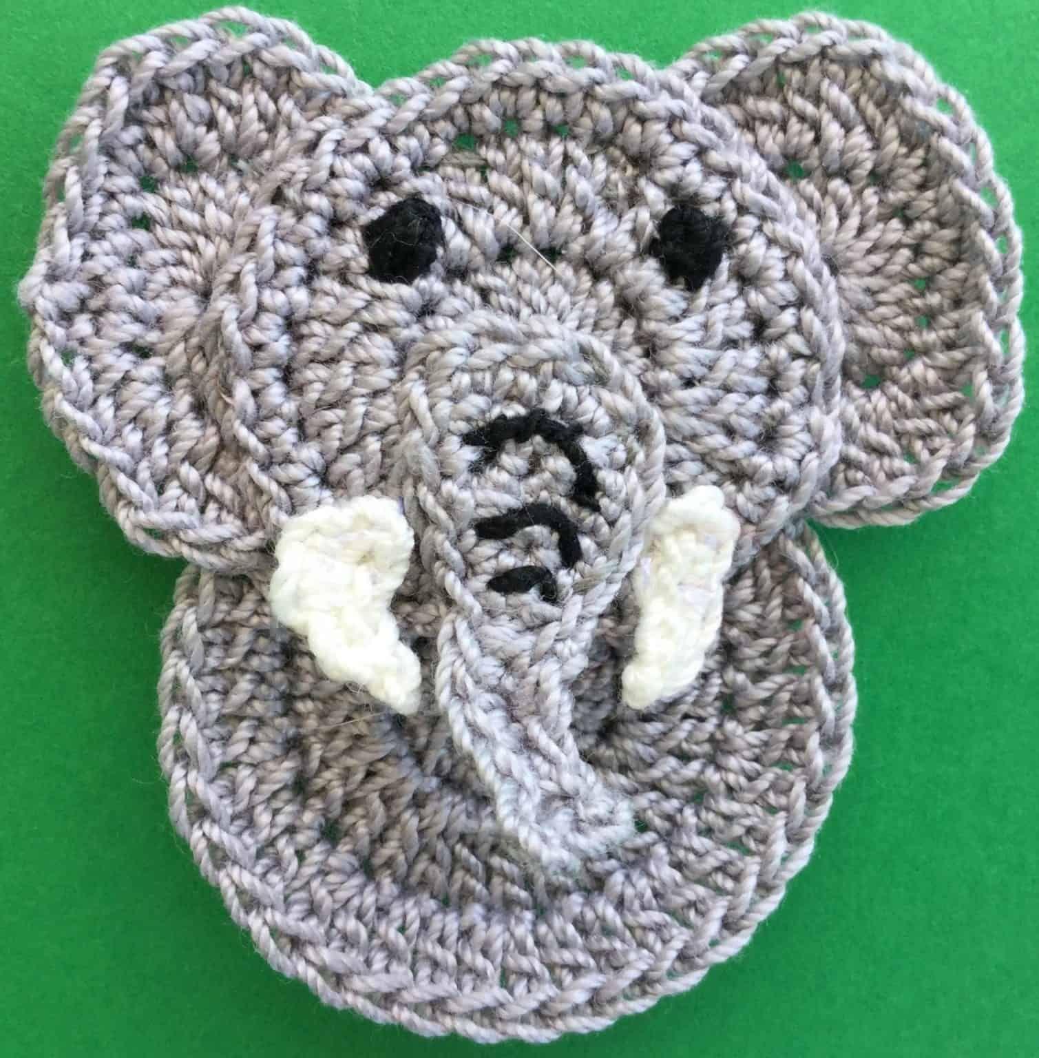 Easy Elephant Crochet Applique Pattern • Kerri's Crochet