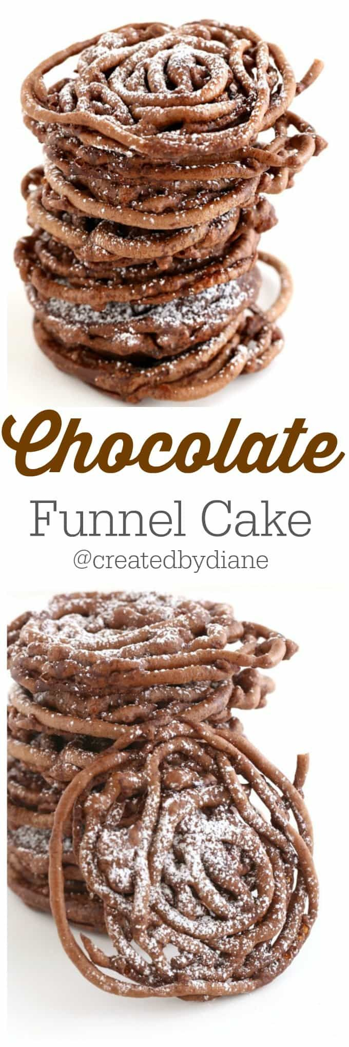 Chocolate funnel cake from createdbydiane Fair food