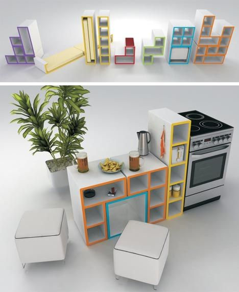 Tetris Furniture, I Want To Build It And Then Continue To Move It Around  Daily