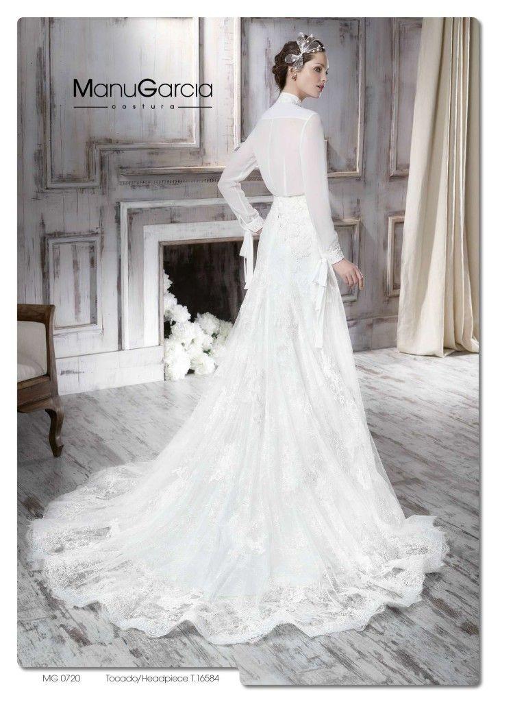 un vestido de novia en dos piezas. colección 2016http://blog