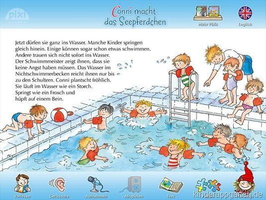 Conni Macht Das Seepferdchen Pixi Kinderbuch App Kinderbucher Seepferdchen Kinder