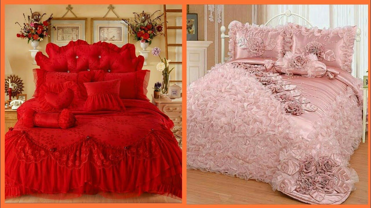 Top Beautiful Designers Bed Sheet Designs / Bridal Bed Sheet Design Ideas  Royal Bed Sheet Https