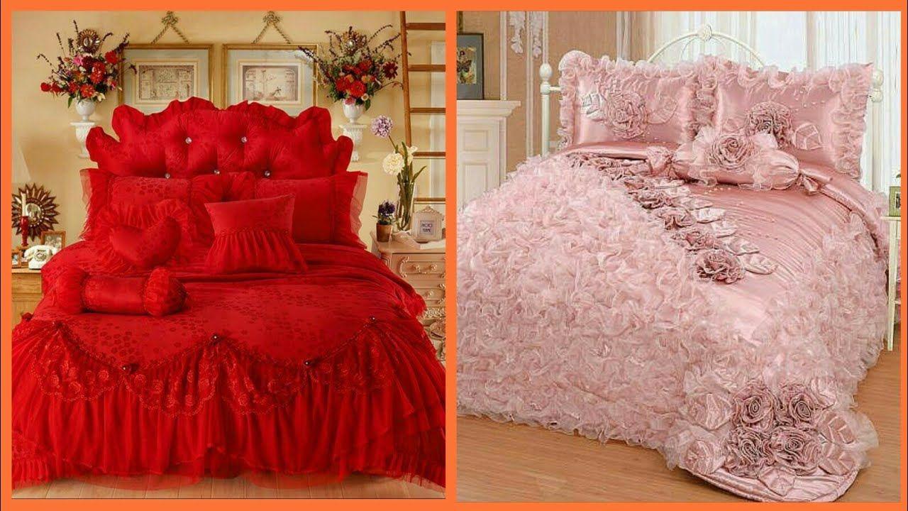 Top Beautiful Designers Bed Sheet Designs Bridal Bed Sheet