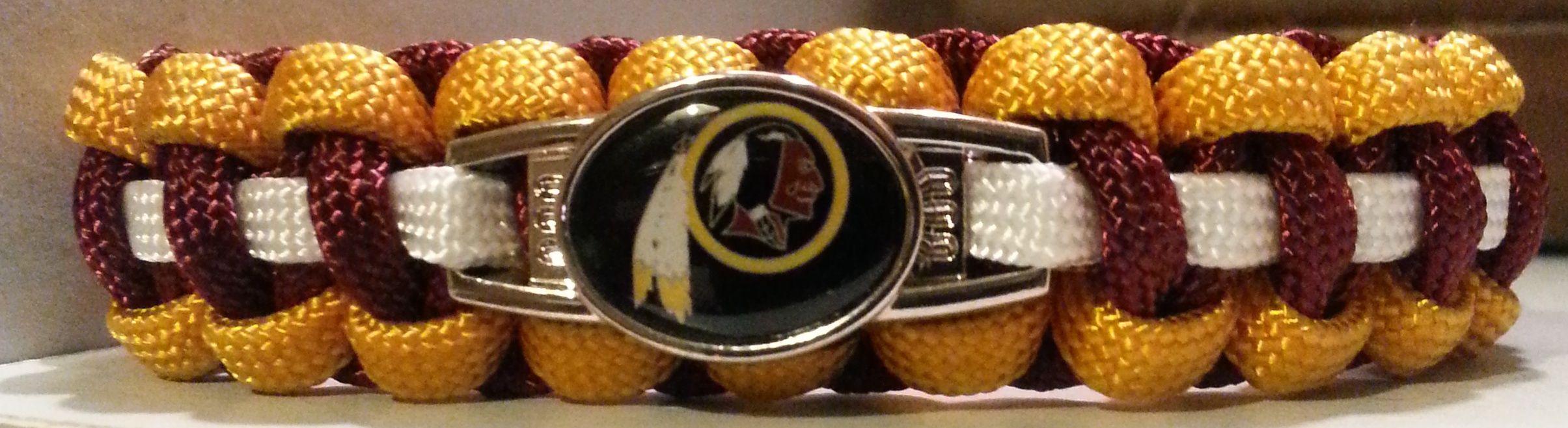 Washington Redskins Paracord Bracelet with Officially Licensed Charm  #Redskins #WashingtonRedskins #NFL