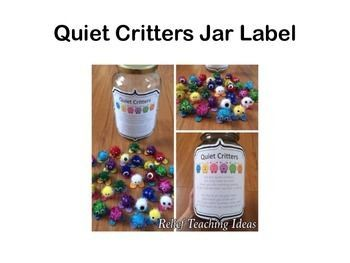 EDITABLE Quiet Critters Labels #quietcritters