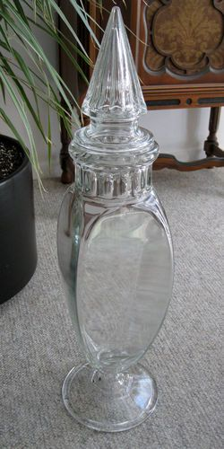 26 Inch Tall Apothecary Jar Vintage